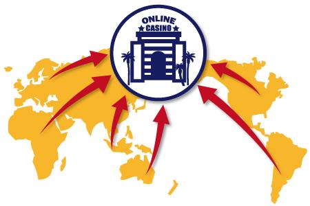 オンラインカジノは世界中で利用されている