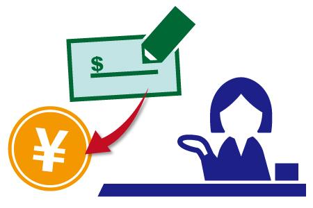 オンラインカジノの出金方法・小切手の換金