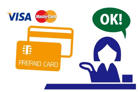国際ブランドの加盟店でクレジットカードのように使える