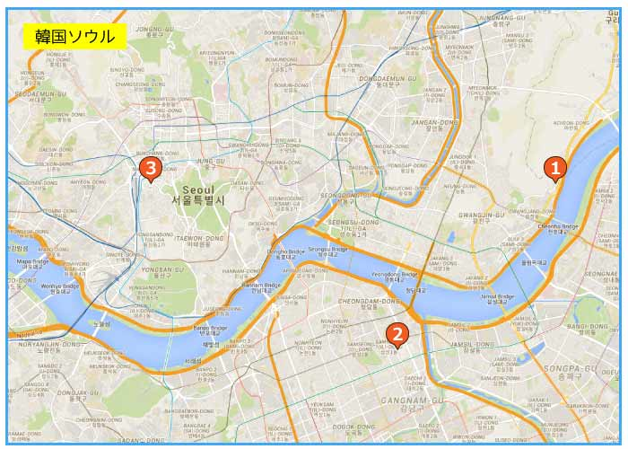 韓国ソウルのおすすめカジノホテルマップ