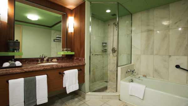 日本人には嬉しい浴室とシャワールームが分かれている