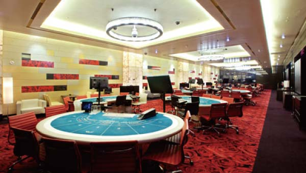 ホテルの地下にあるパラダイスカジノウォーカーヒル